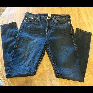TRUE RELIGION High-Waist Skinny Stretch Jeans 33